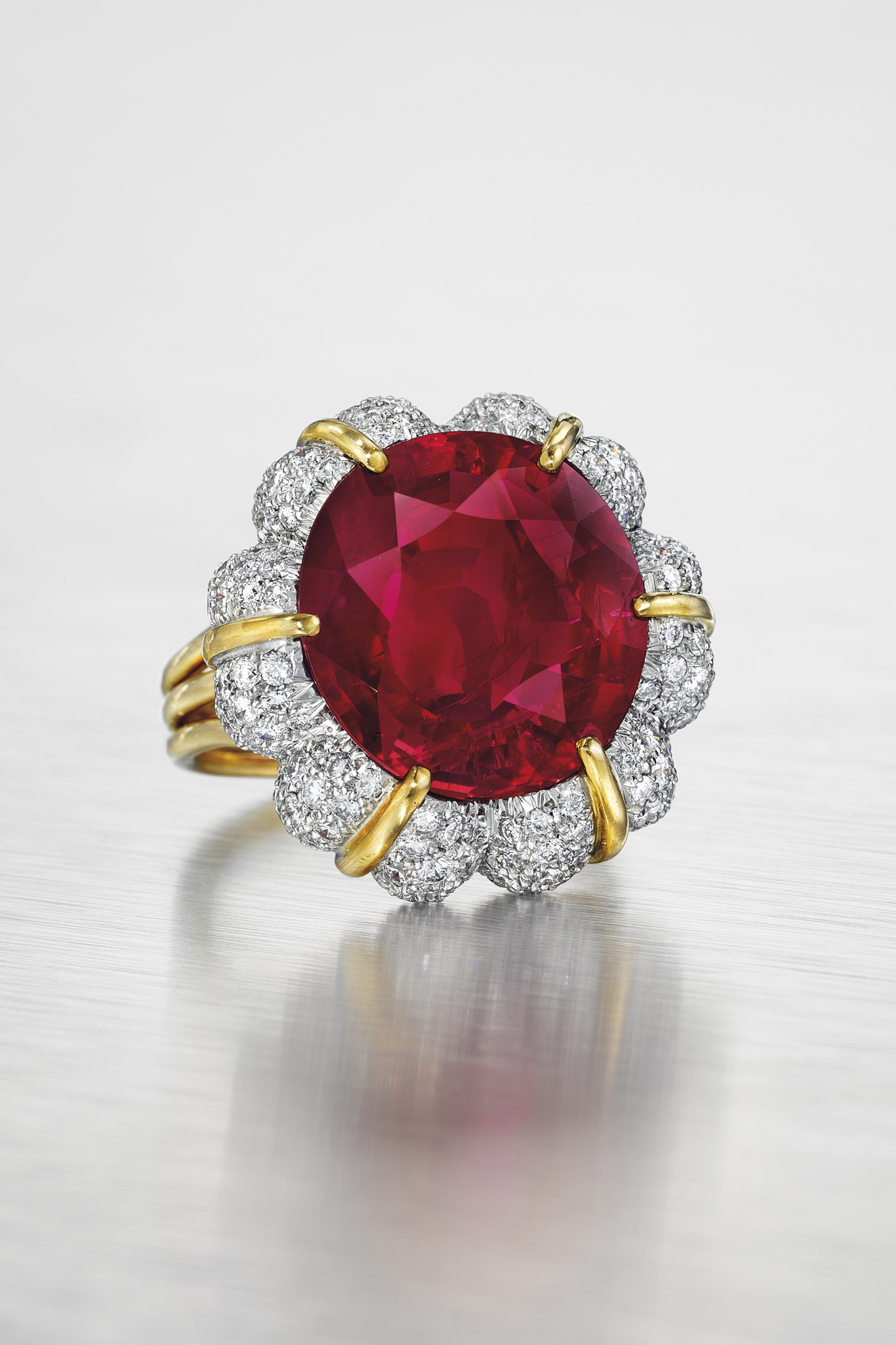 The Jubilee Ruby: a 15.99-karat Burmese ruby and diamond ring by Verdura.