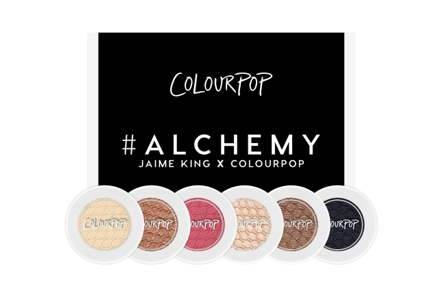 Products from the Alchemy collection, a collaboration between Jamie King and ColourPop.