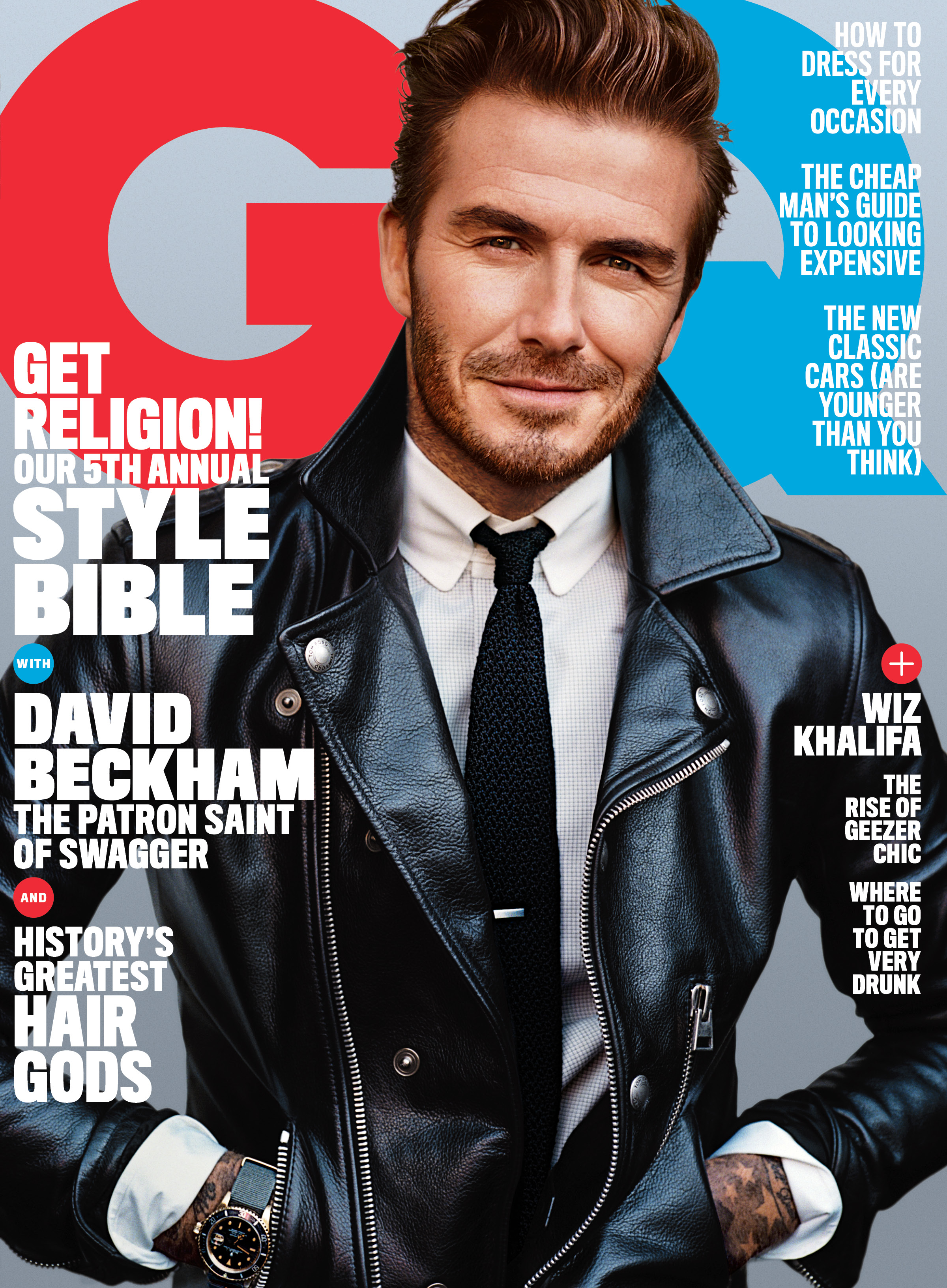 GQ's April cover featuring David Beckham