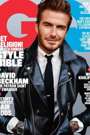 GQ's April cover featuring David Beckham