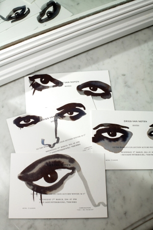 Invites for the Dries Van Noten Fall 2016 show