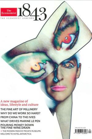 The cover 1843 The Economist's new magazine