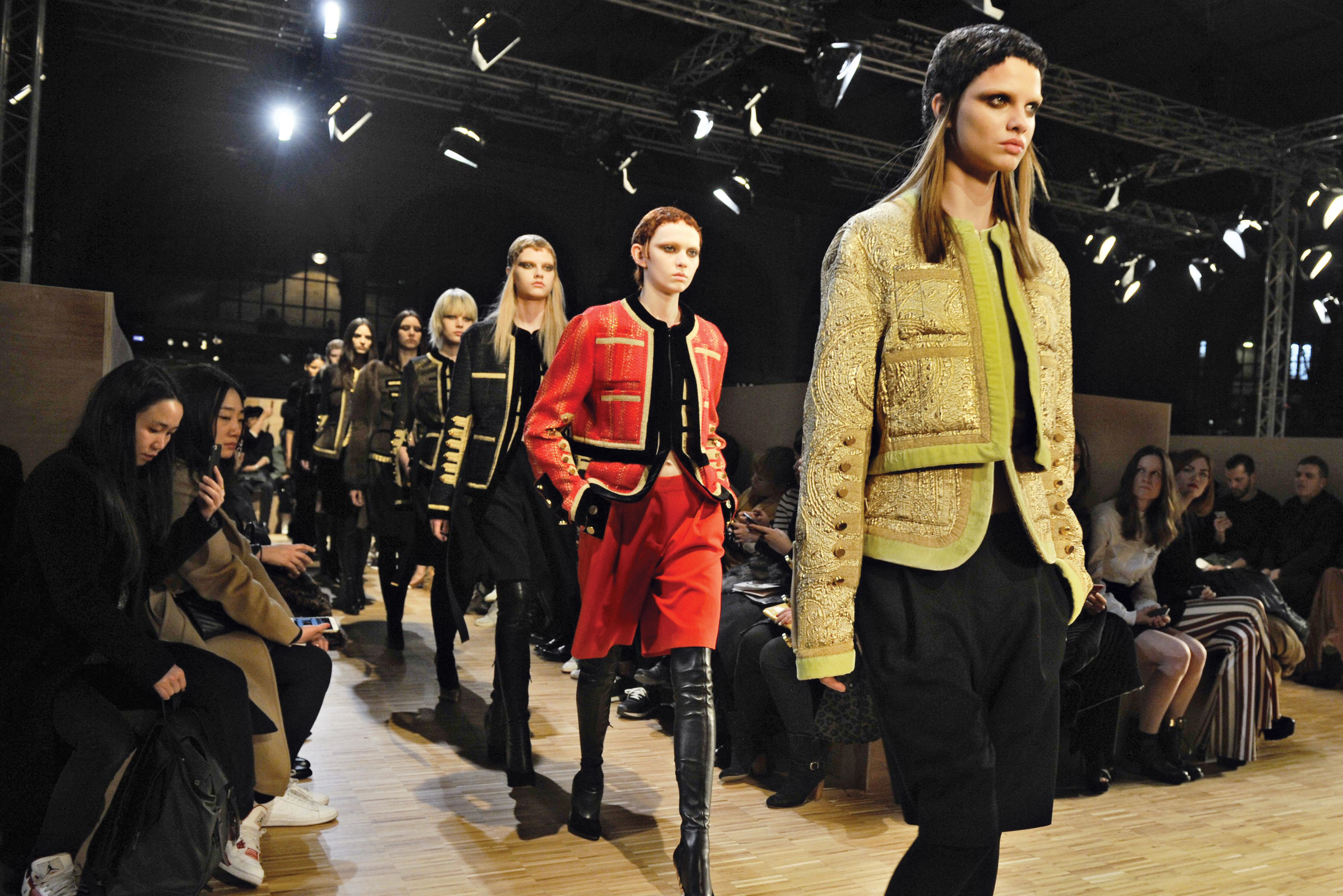 Givenchy's military spin.