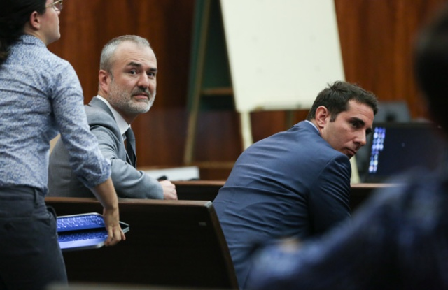 Nick Denton in court.