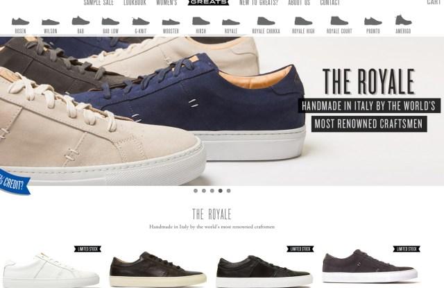Greats' Web site at greatsbrand.com