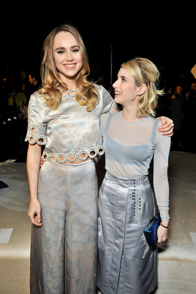 Suki Waterhouse and Emma Roberts H&M Show and After Party 2016 paris fashion week