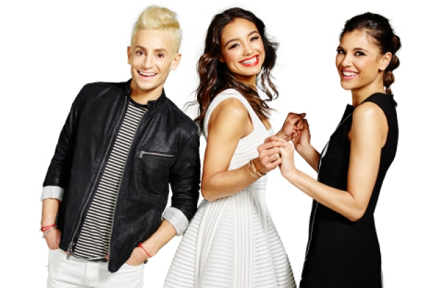 Frankie Grande, Rachel Smith and Lyndsey Rodrigues, hosts of Amazon's new streaming style show.