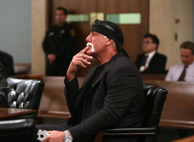 Hulk Hogan in court.