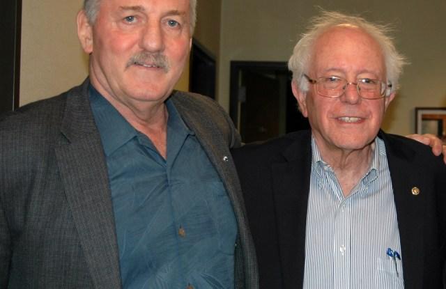 Robert McEllrath and Bernie Sanders