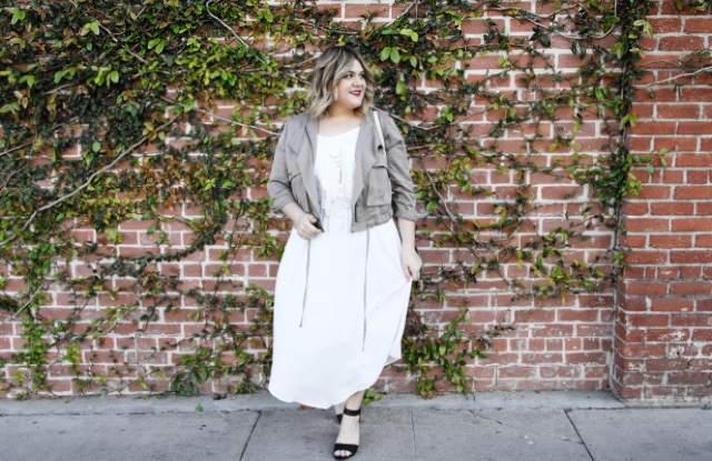 Blogger Nicolette Mason wearing Ava & Viv.