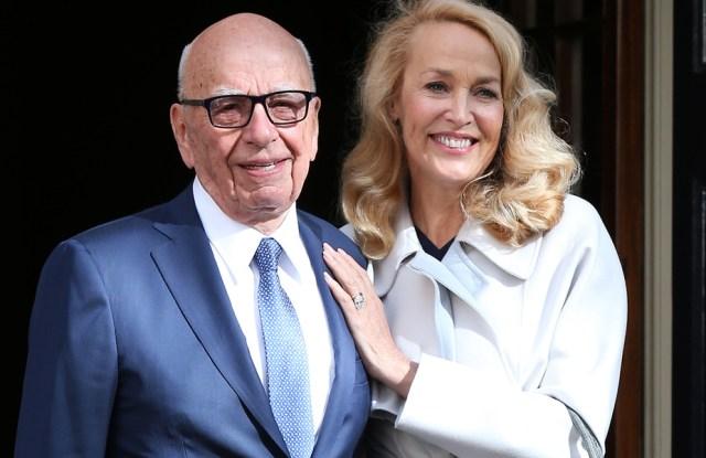 Rupert Murdoch Jerry Hall
