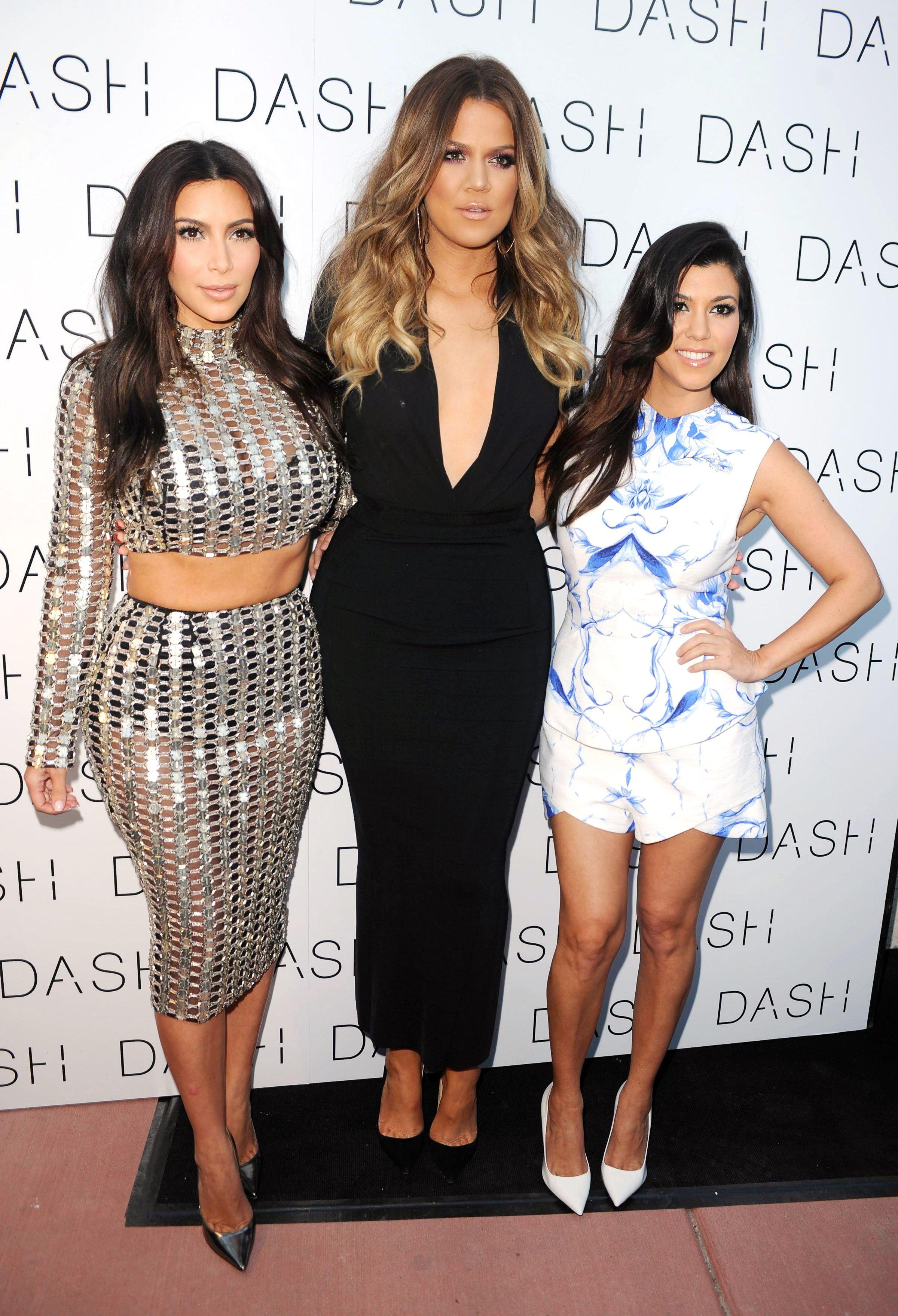 Kim Kardashian, Khloé Kardashian and Kourtney Kardashian