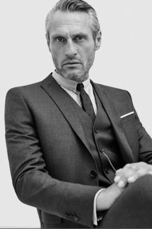 A Kooples suit made with Loro Piana fabrics.