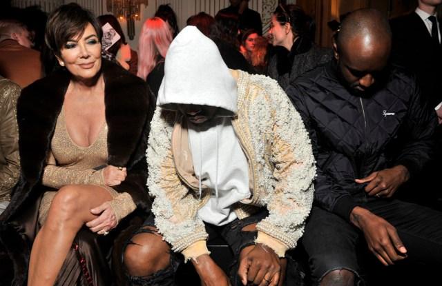 Kris Jenner, Kanye West and Virgil Abloh