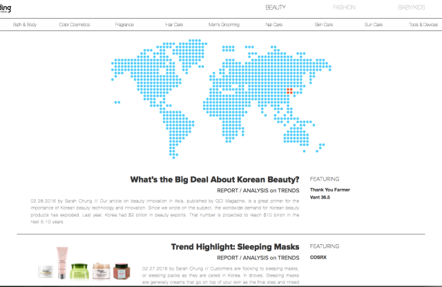Online marketplace for Korean beauty brands and American stores