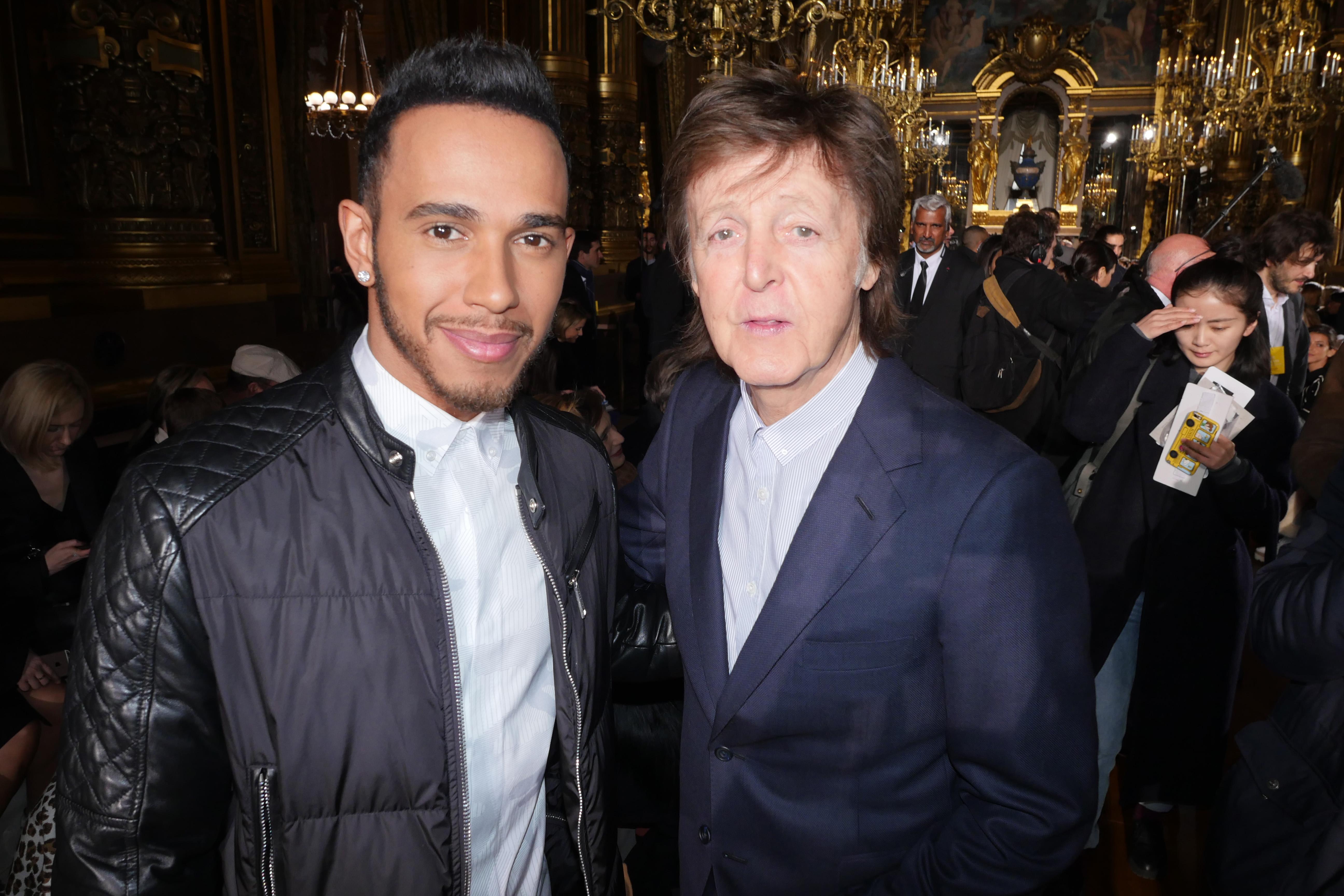 Lewis Hamilton Paul McCartney