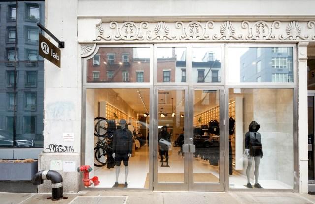 Lululemon's Lab store on Bond Street in New York City.