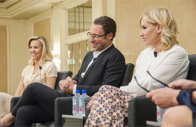 Natasha Cornstein, Stuart Schultz and Alli Webb at CEW's West Coast Beauty Insider Series