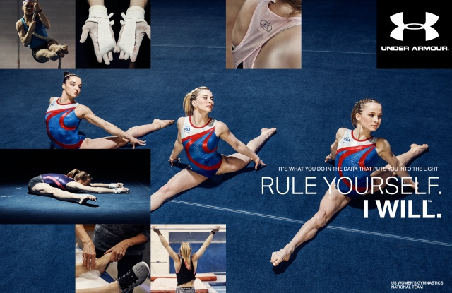 "USA Gymnastics team featured in Under Armour's ""Rule Yourself"" campaign"