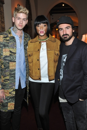 T. Mills, Winnie Harlow and Francesco Ragazzi Saks Fifth Avenue Launch Party for Palm Angels Spring 2016 Collection