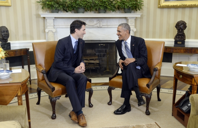 Canadian Prime Minister Trudeau and President Obama
