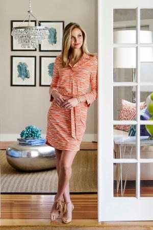 Ellie Kai's Rebecca Dress in its  signature EK Stretch fabric.