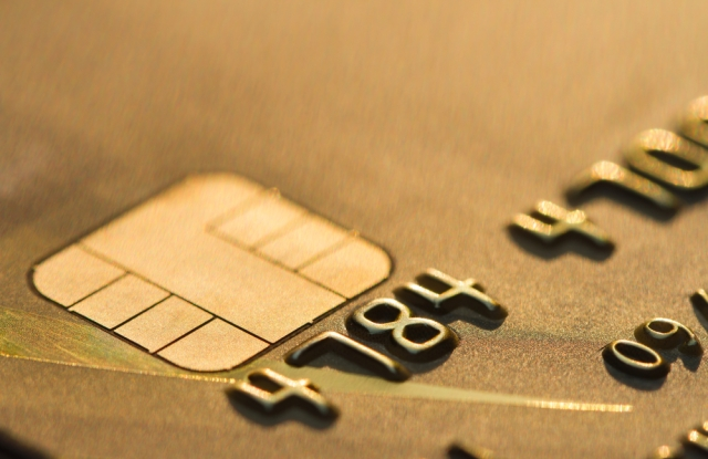 EMV-chip enabled card.