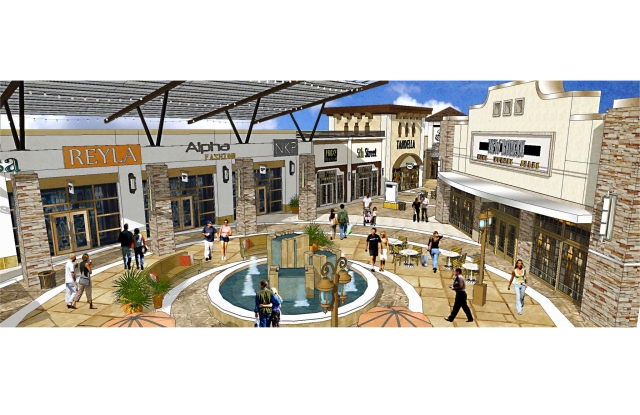 Rendering of Tanger Outlets Fort Worth