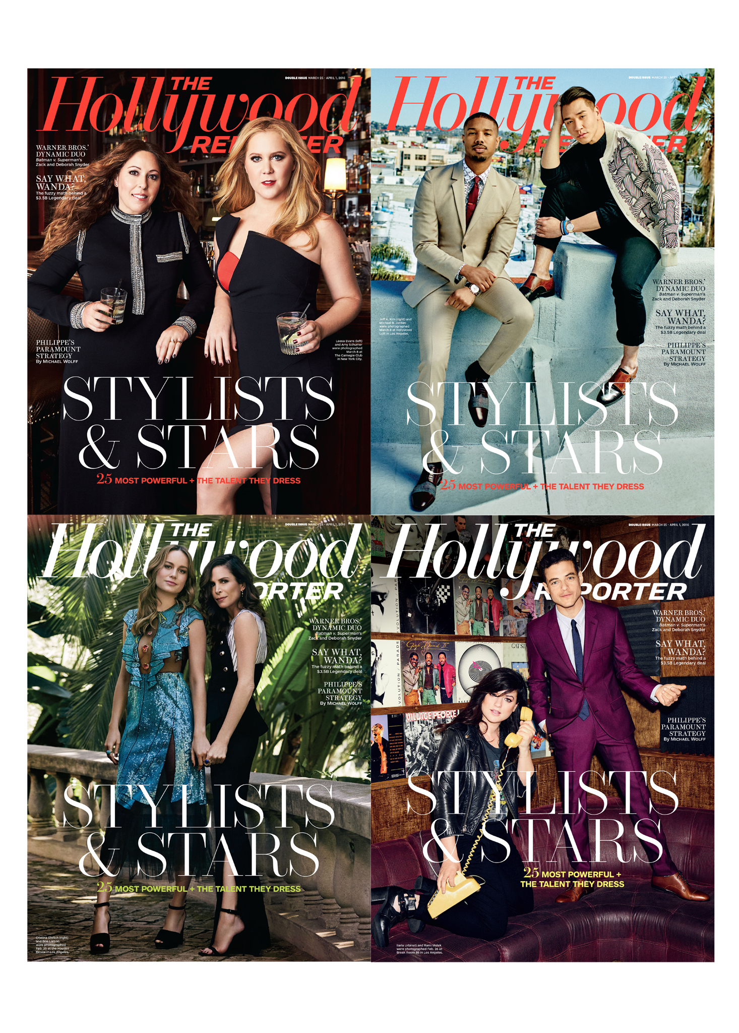 The Hollywood Reporter Top Stylists List - Brie Larson, Amy Schumer
