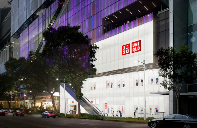 A rendering of Uniqlo's Singapore flagship