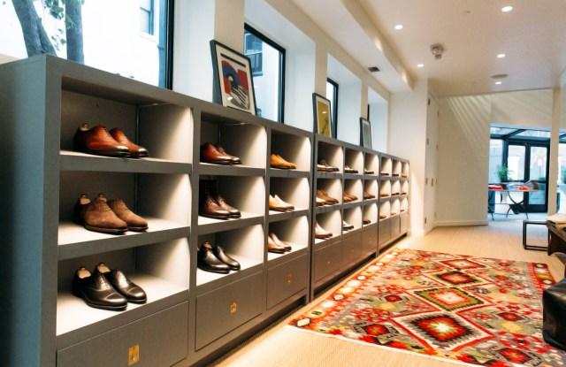 Edward Green shoes at Sid Mashburn's Washington, D.C. store.