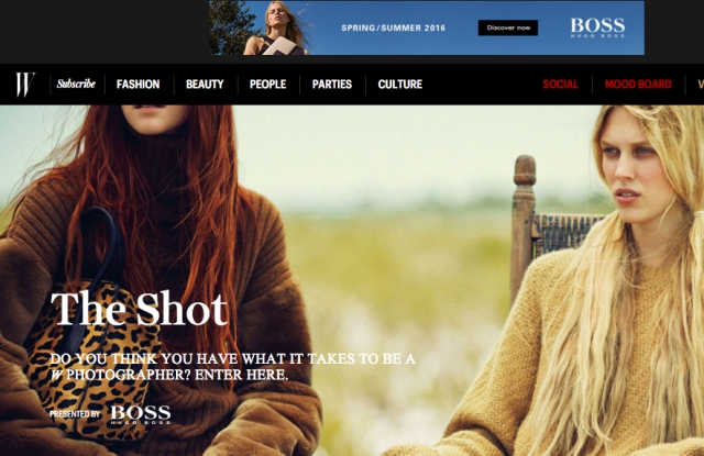 """W magazine's """"The Shot"""" is a competition for aspiring fashion photographers to shoot for the magazine."""
