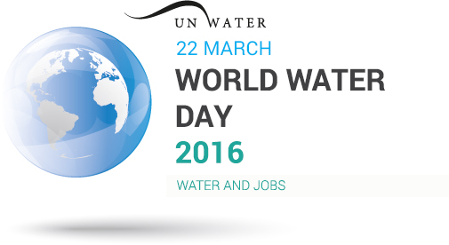 The United Nations World Water Day logo.