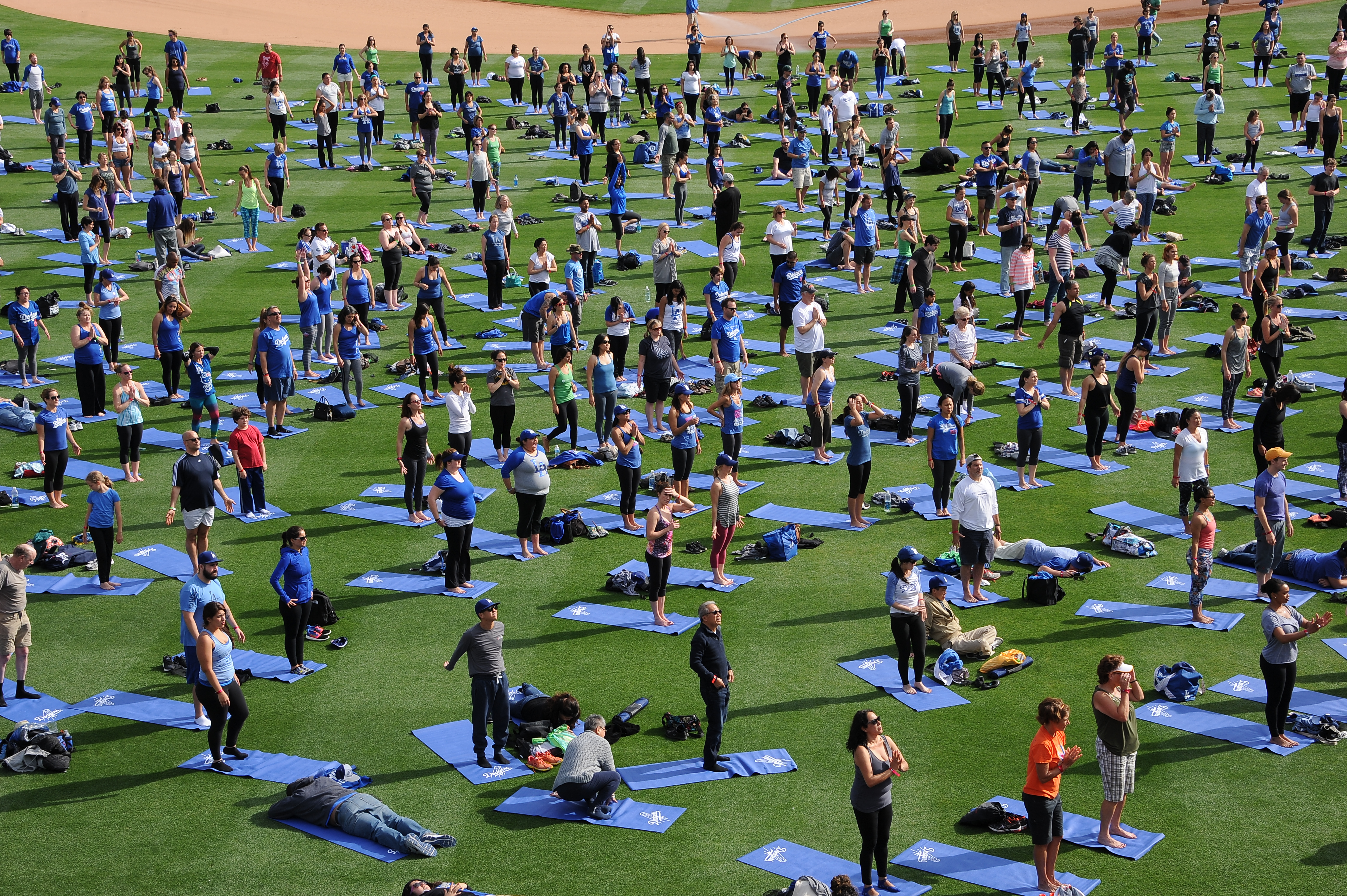 Yogis will take to the field at Dodger Stadium.