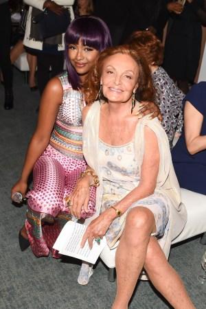 Justine Skye and Diane von Furstenberg at the 7th Annual DVF Awards