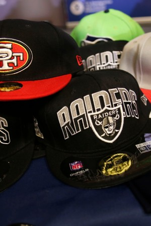 Confiscated counterfeit Super Bowl 50 merchandise.