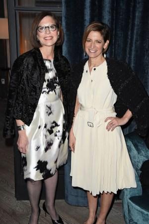 Linda Heasley and Cindi Leive at Glamour X Lane Bryant dinner.