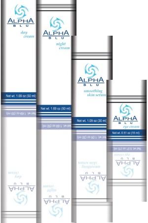 Alpha Blu skincare products use human stem cells.