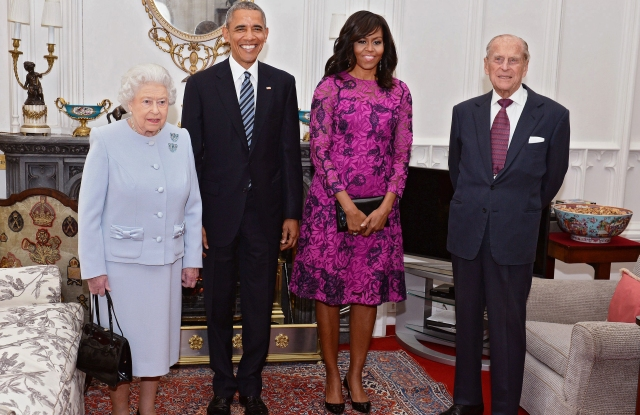 Queen Elizabeth II, President Barack Obama, First Lady Michelle Obama and Prince Philip