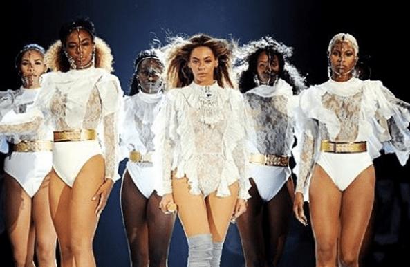 Beyoncé in custom Balmain