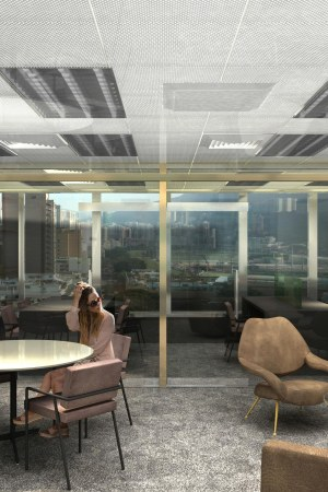 A rendering of Massimo Bonini showroom in Hong Kong