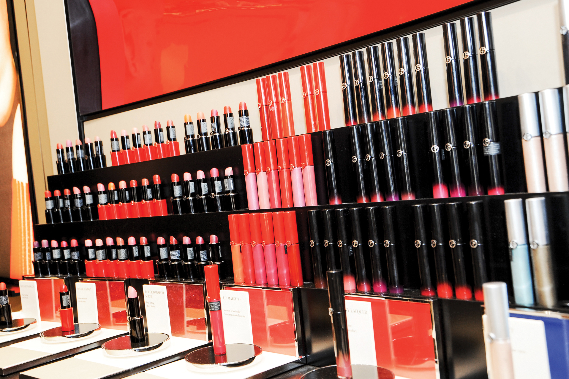 Giorgio Armani Beauty at Bergdorf Goodman.