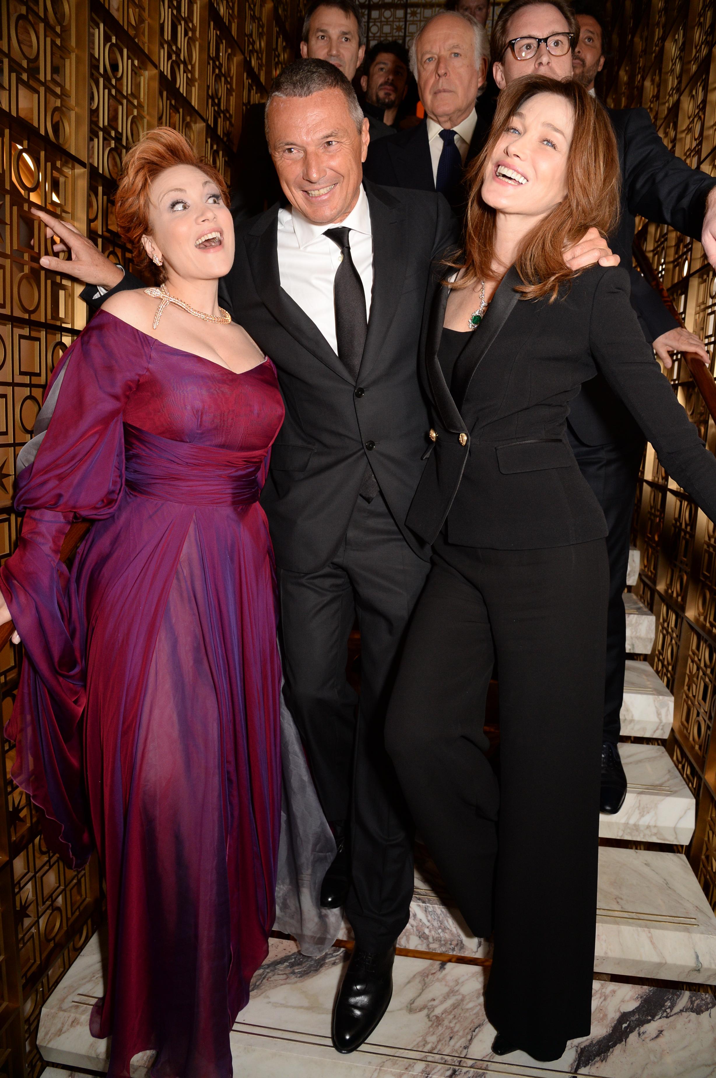 Carla Bruni-Sarkozy, Jean-Christophe Babin and Carmen Giannattasio