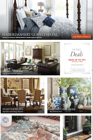 HSN's Frontgate homepage.