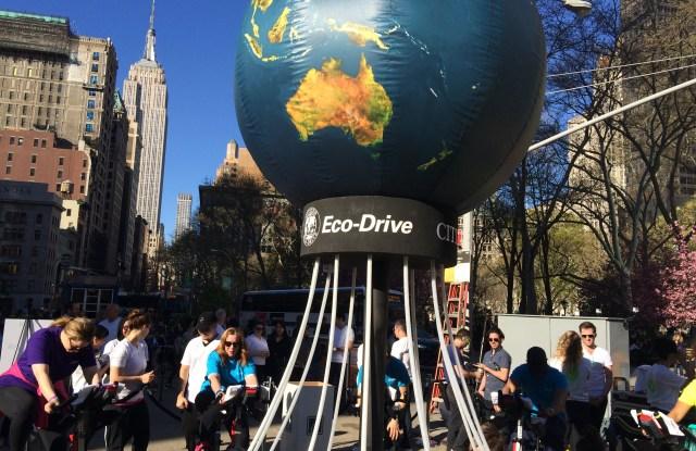 Citizen's Eco Drive Spin studio.