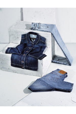 Jordache's legacy collection is the brand's re-entry into department stores. Denim jackets, like the one here from lee, are gaining momentum in the market while the levi's Brand's 505 C leverages a consumer desire for authenticity.