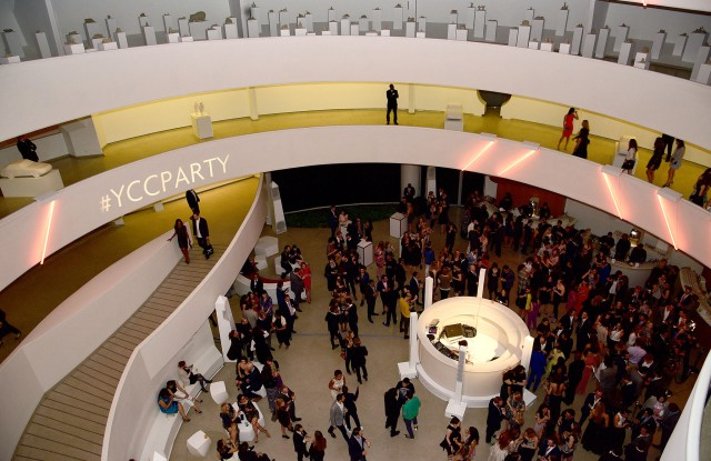 The scene at the Guggenheim.