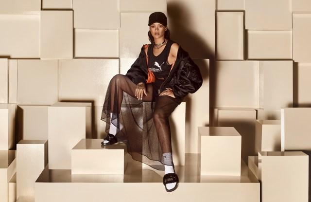 Fur slides from Rihanna's Fenty x Puma line.