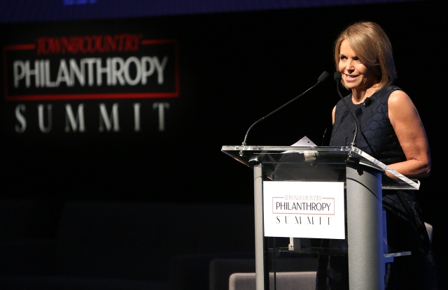 Katie Couric at the Philanthropy Summit in 2015.