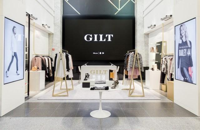 Inside the Gilt shop at Saks Off 5th.